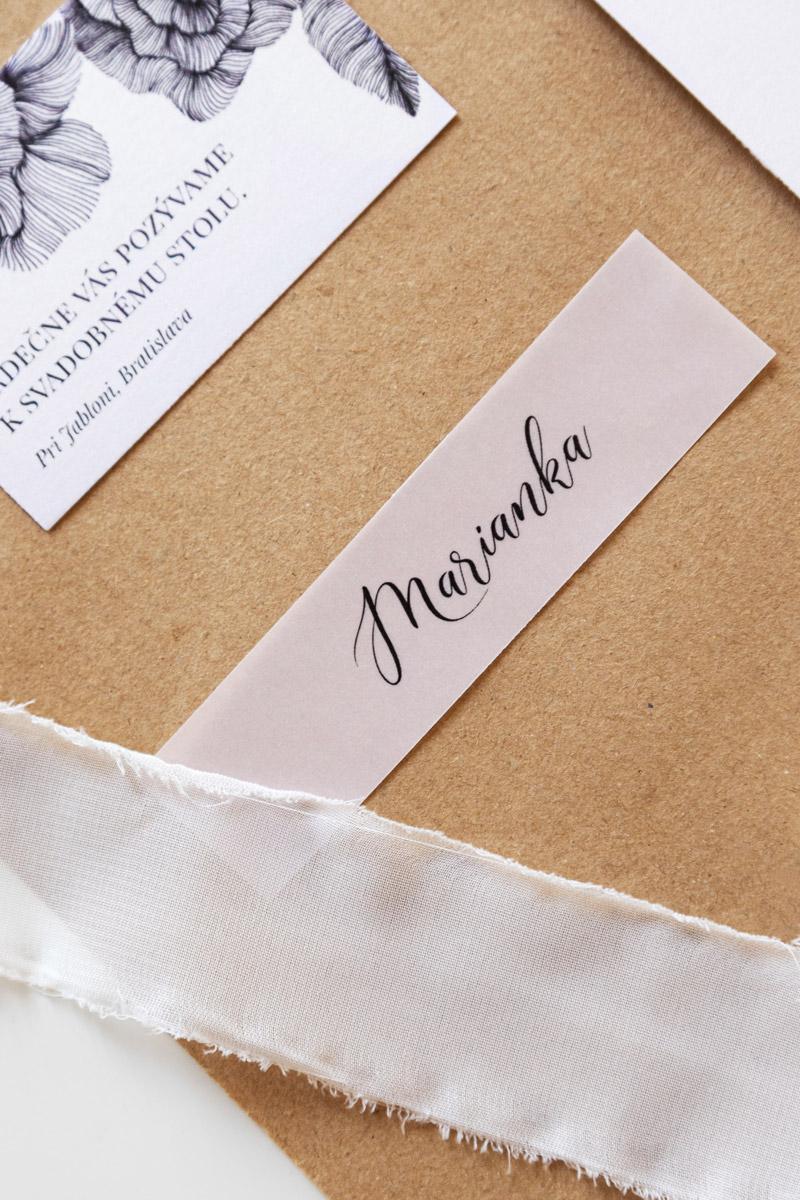 Svadobné oznámenie - Svadobná pozvánka - ateliér zuz