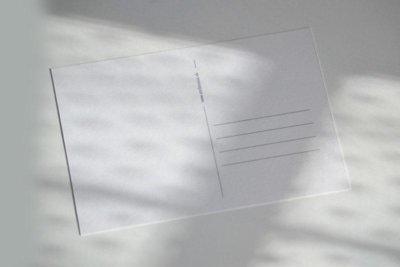 Pohľadnica - Zadná strana